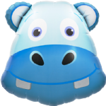 "28"" Hippo Head Foil Balloon"
